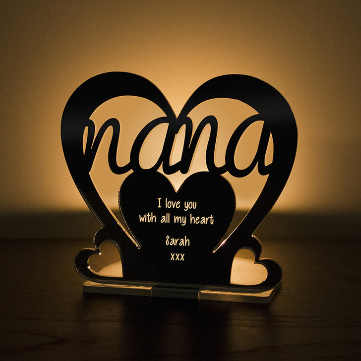Personalised Tealight Candle Holder For NANA