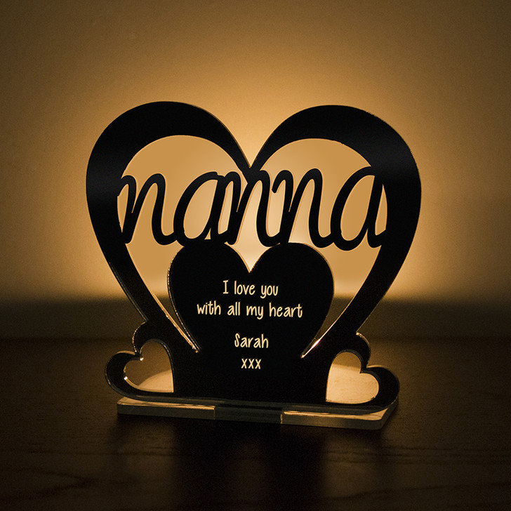Personalised Tealight Candle Holder For NANNA