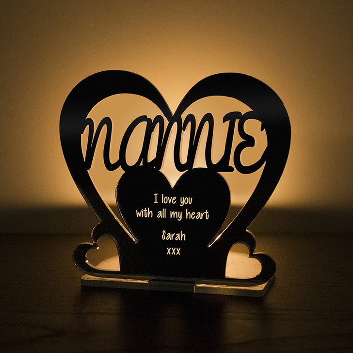 Personalised Tealight Candle Holder For NANNIE