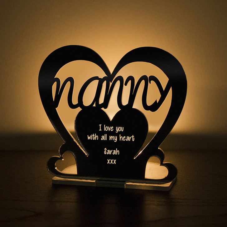Personalised Tealight Candle Holder For NANNY