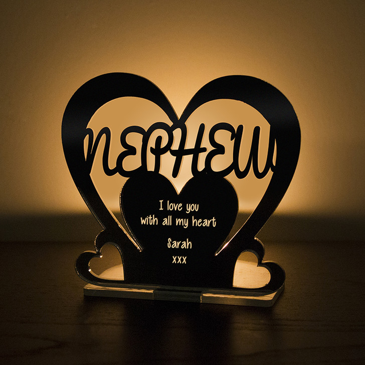Personalised Tealight Candle Holder For NEPHEW