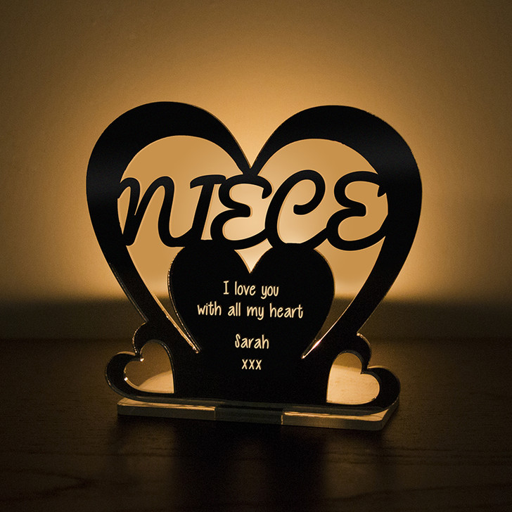 Personalised Tealight Candle Holder For NIECE