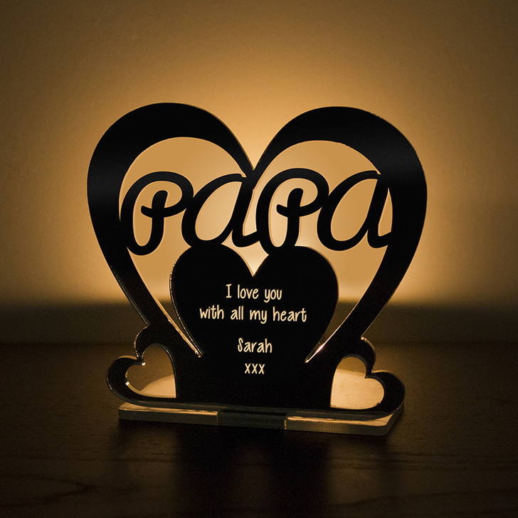 Personalised Tealight Candle Holder For PAPA