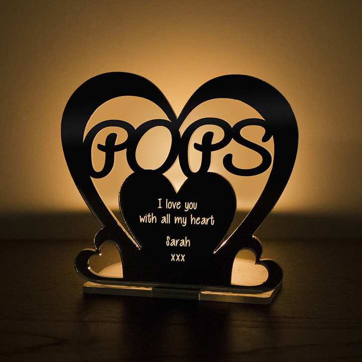 Personalised Tealight Candle Holder For POPS