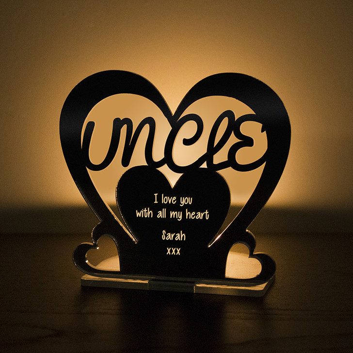 Personalised Tealight Candle Holder For UNCLE