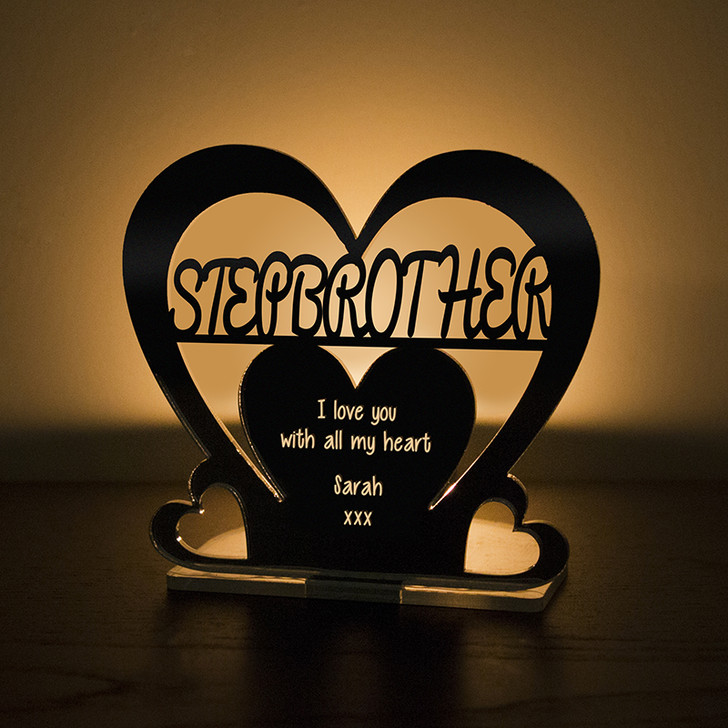 Personalised Tealight Candle Holder For STEP BROTHER