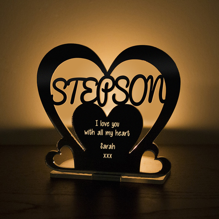 Personalised Tealight Candle Holder For STEP SON