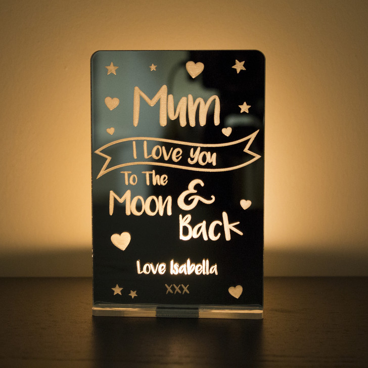 "Personalised ""I Love You To The Moon & Back"" Tealight Candle Holder"