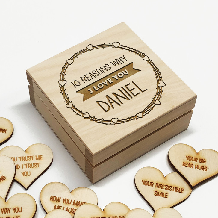 10 Reasons Why I Love You Personalised Box, Anniversary Gift Idea