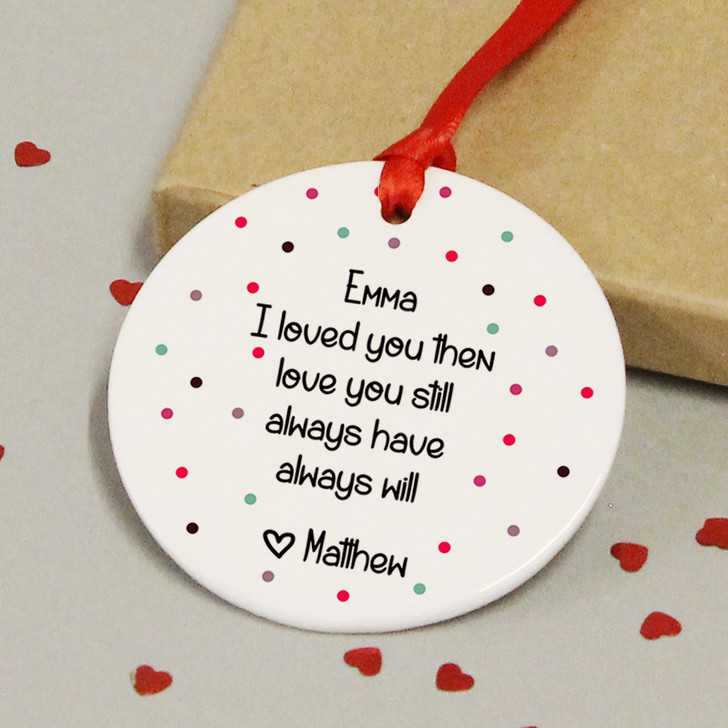 Personalised Ceramic Keepsake With Love Quote - Anniversary Gift