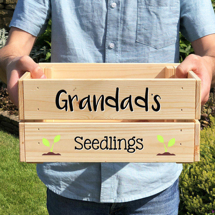 Personalised Seedling Planter Crate