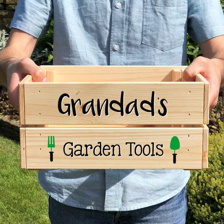 Personalised Garden Tools Storage Crate
