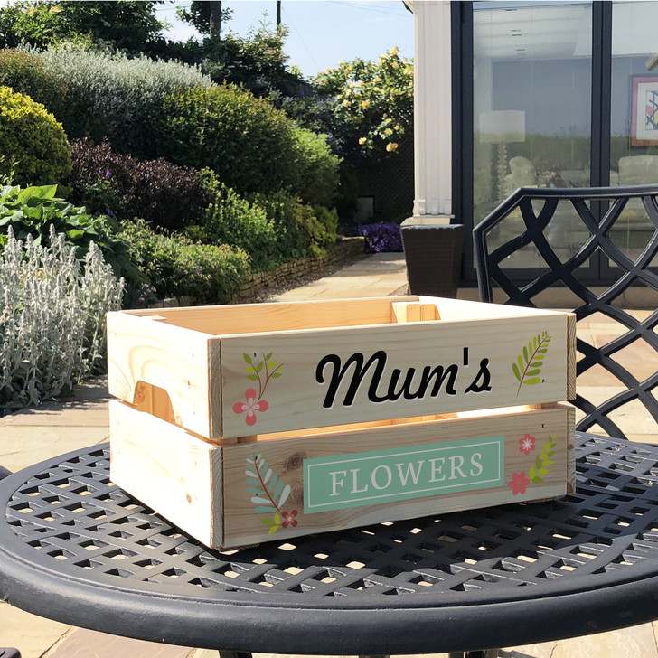 Personalised Flower Garden Crate