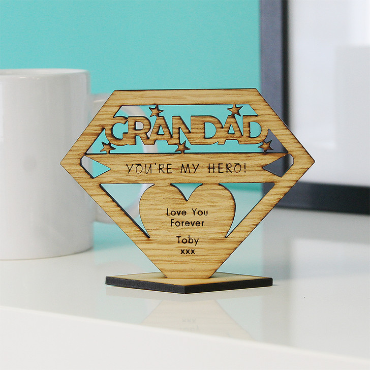 GRANDAD You're My Hero! Personalised Keepsake Gift