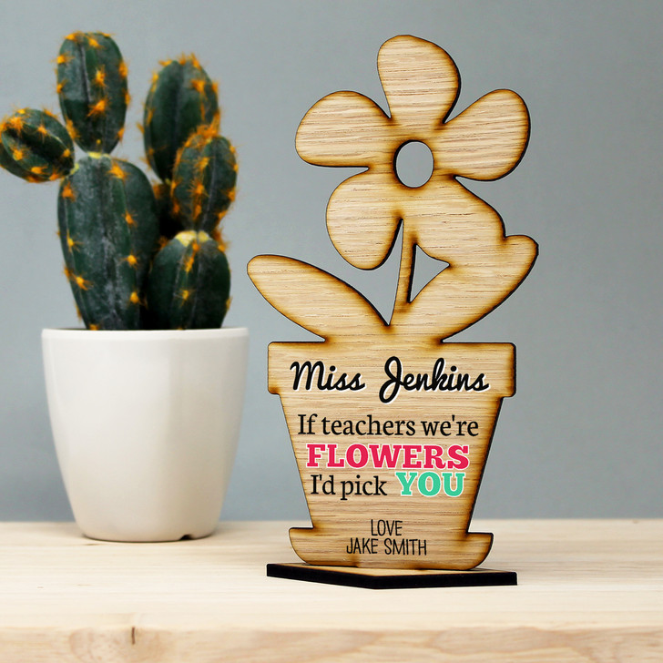 If Teachers Were Flowers I'd Pick You Personalised Teacher Thank You Gift