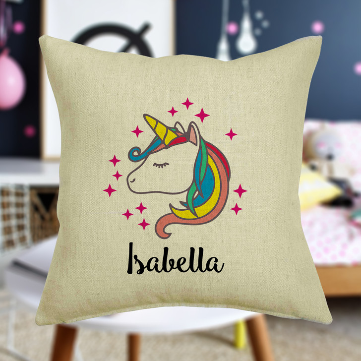 Personalised Unicorn Cushion Cover With Any Name Printed