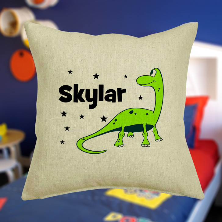 Personalised Dinosaur Cushion Cover With Any Name Printed