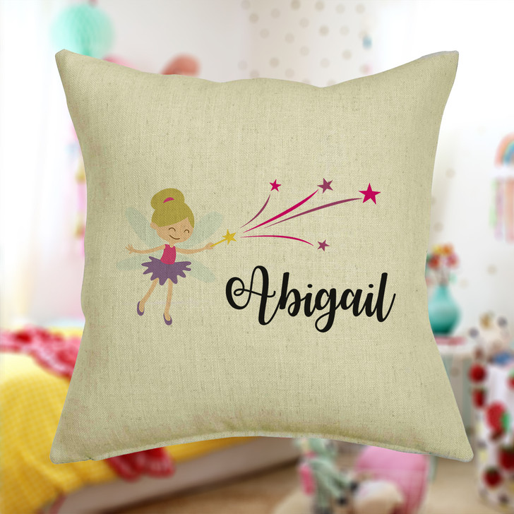 Personalised Fairies Cushion Cover With Any Name Printed