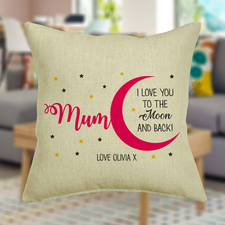 Personalised Cushion Cover I Love You To The Moon And Back