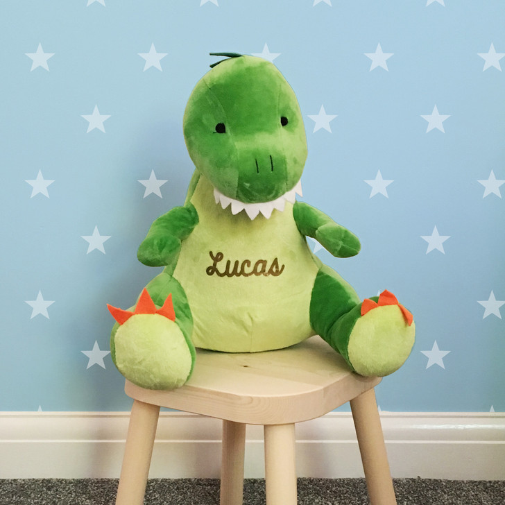 Personalised Soft Toy Dinosaur Teddy - Personalise With Any Name