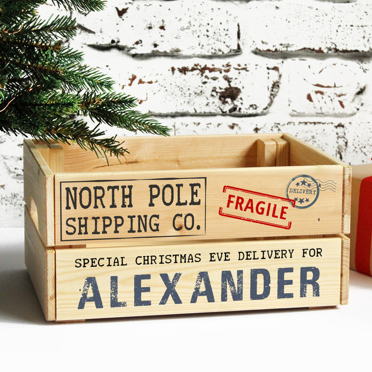 Personalised Christmas Eve Crate, Special Xmas Delivery Box From Santa