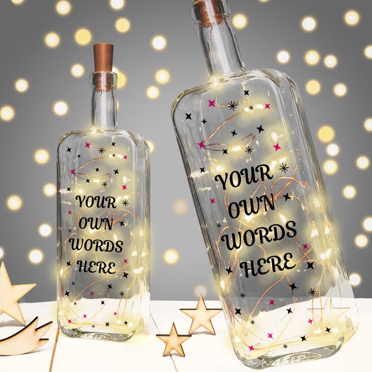 Personalised LED Light Up Bottle Keepsake Gift