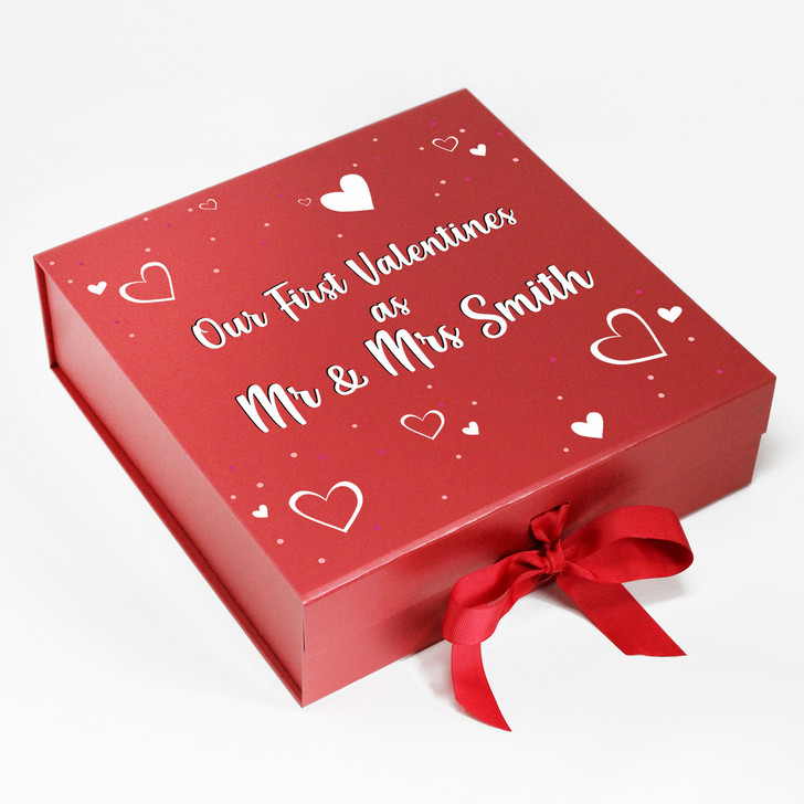 Personalised Mr And Mrs Couples Valentine's Day Keepsake Gift Box