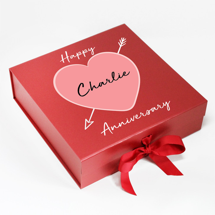 Personalised Cupid Heart Anniversary Keepsake Gift Box, Wedding Gift, Boyfriend, Girlfriend, Husand or Wife Present