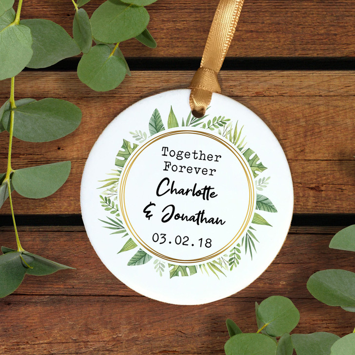 Together Forever Personalised Ceramic Keepsake Decoration