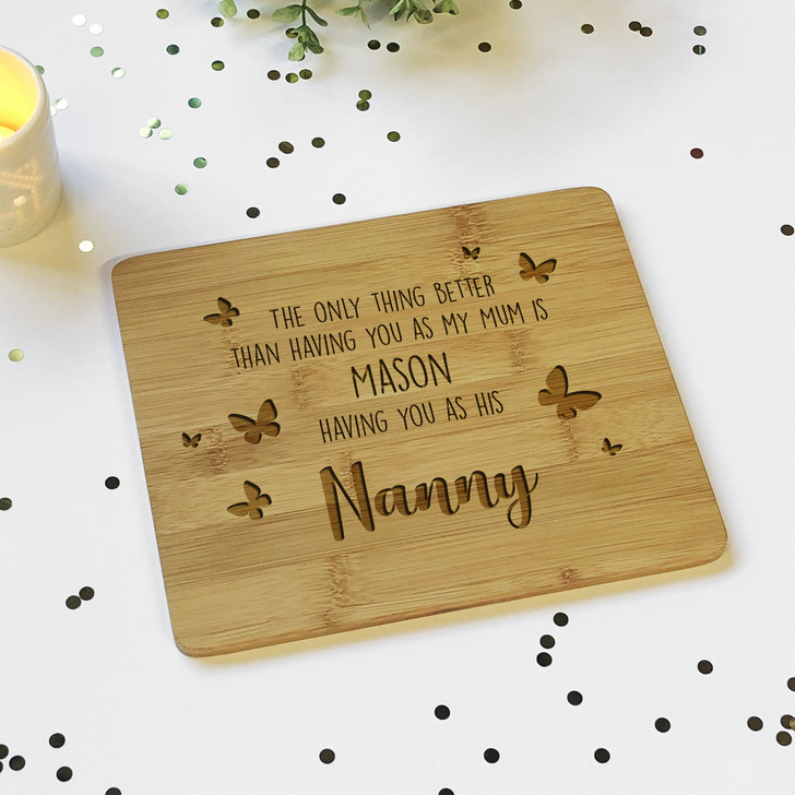 The Only Thing Better...Personalised Grandparents Bamboo Chopping Board Mother's Day Gift