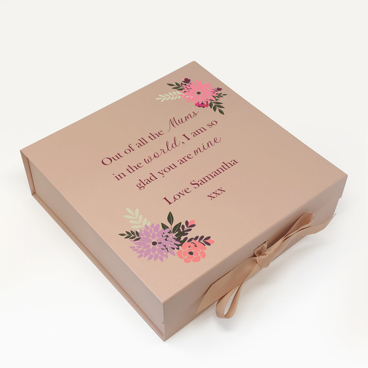 Personalised Out Of All The Mums In The World, Mother's Day, Birthday Keepsake Memory Gift Box