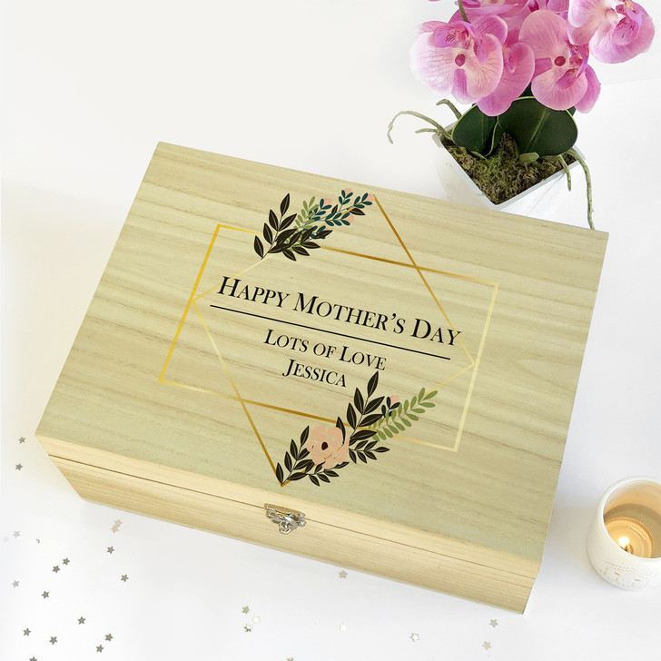 Personalised Happy Mother's Day...Wooden Keepsake Memory Box