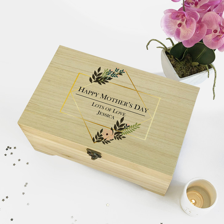 Personalised Mums Wooden Jewellery Box...Happy Mother's Day Gift