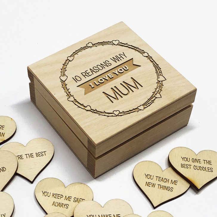 10 Reasons Why I Love You Mum Personalised Box, Mother's Day or Birthday Gift Idea