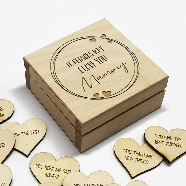 10 Reasons Why I Love You Mummy Personalised Box, Mother's Day Gift Idea