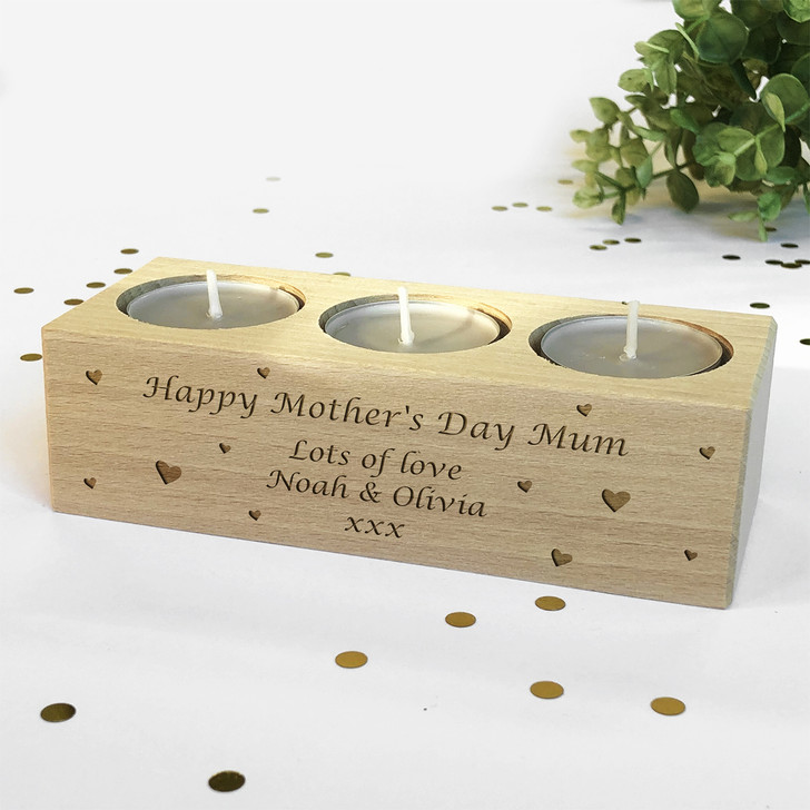 Personalised Tealight Candle Holder Mother's Day Gift For Mum, Nanny, Grandma