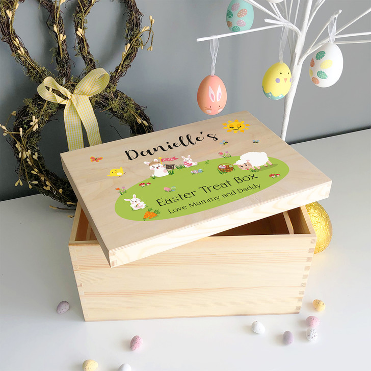 Easter Egg Treat Wooden Box For Kids...Personalised with Any Name and Message