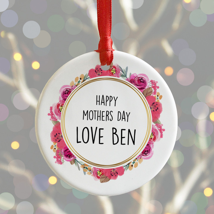 Personalised Happy Mother's Day Ceramic Keepsake Token Gift For Mums
