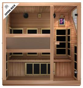 Ensi RED™ 4 Person Ultra-Low EMF Far Infrared Sauna (Red Cedar Wood, Open-Box)