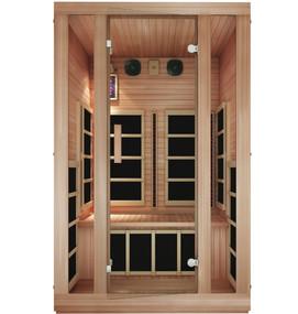 Tosi Red™ 2 Person Full Spectrum Infrared Sauna (Red Cedar)