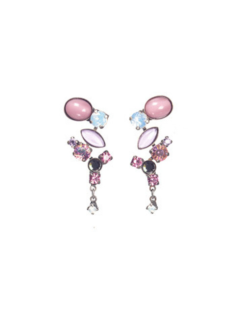 Sorrelli Misty Pink Crystal Earrings EAZ11ASMP