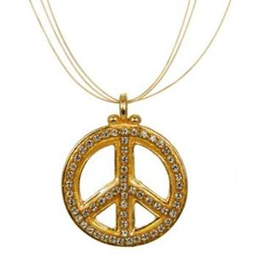 MICHAL GOLAN PEACE SIGN PENDANT N2319