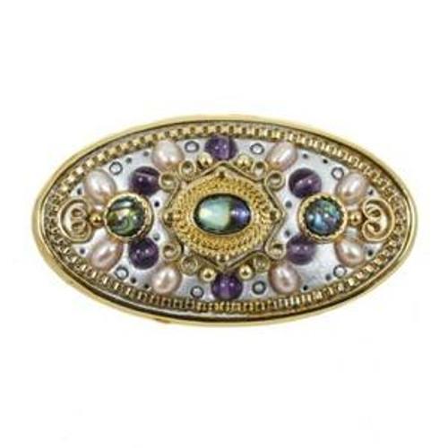 michal golan vintage violet brooch b210
