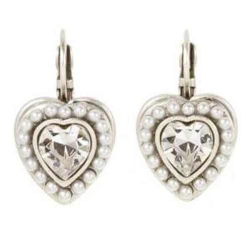 MICHAL GOLAN BRIDAL CRYSTAL HEART EARRINGS
