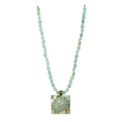 MICHAL GOLAN BLUE LAGOON CRYSTAL NECKLACE N2218