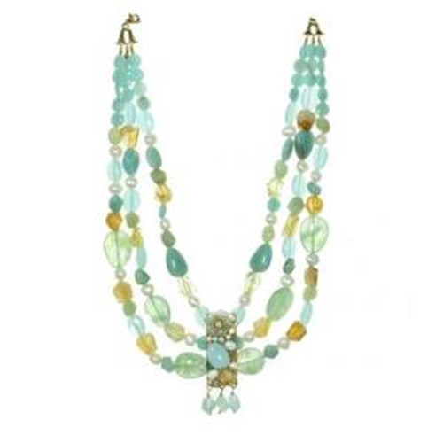 MICHAL GOLAN BLUE LAGOON CRYSTAL NECKLACE N2217