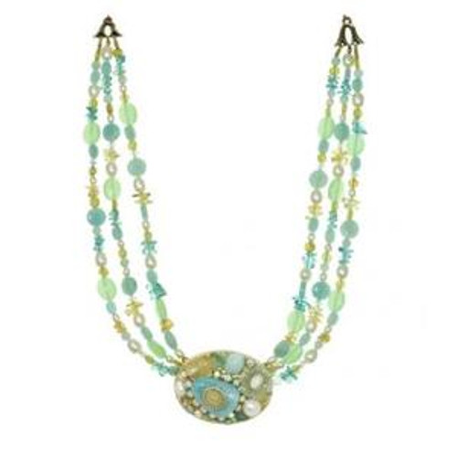MICHAL GOLAN BLUE LAGOON CRYSTAL NECKLACE N2215