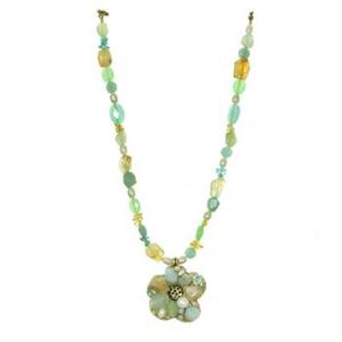 MICHAL GOLAN BLUE LAGOON CRYSTAL NECKLACE N2214