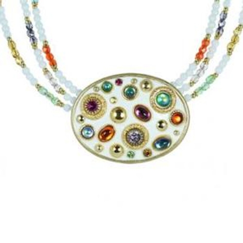michal golan aurora crystal necklace n2228