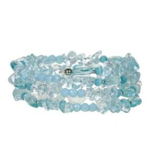 Michal Golan Aqua Marine Memory Wire Bracelets